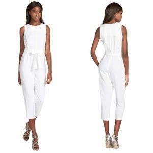 NWT Glamorous Belted Culotte White Jumpsuit